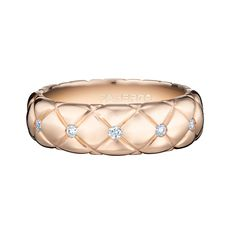 Fabergé Treillage Rose Gold Thin Diamond Ring #Fabergé #Treillage #diamond #ring