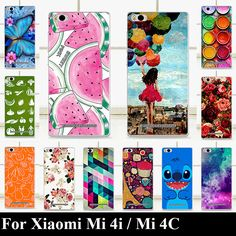 For Xiaomi Mi 4i Mi4i Mi4C Mi 4C case  Colorful Printing Drawing Transparent Plastic Mobile Phone Cover
