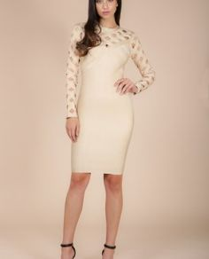 Valora Caged Bandage Dress