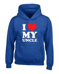 I Love My Uncle Great Gift For Any Nephew Niece - Boys Hoodie Kids M Royal ** Check out this great product.