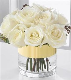 elegant, simple centerpiece.  do with lavender roses, lambs ear accents? or something that adds grey, and a light/sheer silver or light grey ribbon