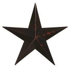 "24"" Painted Barn Star from DutchCrafters Amish Furniture. 24"" metal painted barn star for indoors or outdoors. Add this rustic or farmhouse accent to your home in the paint color of your choice -- red, navy blue, white, burnt orange, black, hunter green, sage, mustard. #metalbarnstars #decor #onhouseexterior"