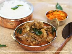 Traditional Kerala Style Chicken Curry -Spicy Chicken Gravy simmered with a dash of Coconut milk and Ground Dry Roasted Coconut & Spices @ HOSpice