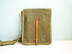 Vintage military messenger bag