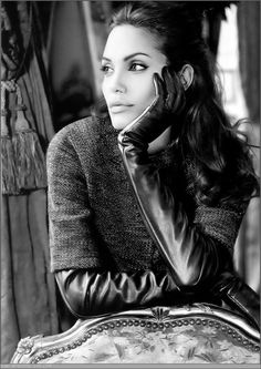 Angelina Jolie (1975) - American actress, film director, screenwriter, and author. Photo by Mario Testino