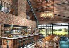 Amazing. Soho House - Soho Farmhouse concept, with individual cabins in Oxfordshire; golf, horseback riding, hiking