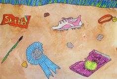 Personal Archeology Watercolor Resist - This looks like a super fun project.