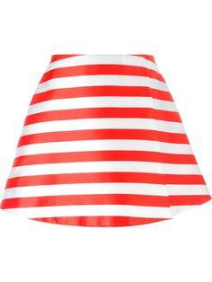 VIVETTA striped A-line skirt. #vivetta #cloth #skirt