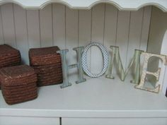 Hacer letras de madera para decorar