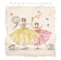 Cards » Thank you for being my Bridesmaid » Thank you for being my Bridesmaid - Berni Parker Designs