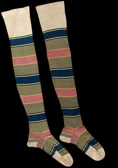 Pair of stockings  England, Britain (made)  ca. 1860s (made)  unknown (production)  knitted silk