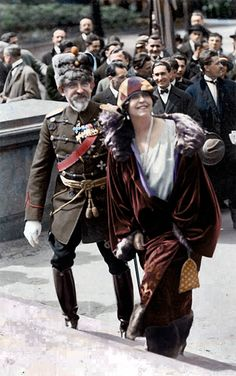 Queen Marie of Romania Gallery / Queen Marie and King Ferdinand of Romania Postcard Queen Mary, King Queen, Old Pictures, Old Photos, History Of Romania, Romanian Royal Family, Royal King, Royal House, European History