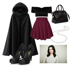"""""""Veronica Lodge inspired outfit"""" by beatriz-ag on Polyvore featuring Nadri, Boohoo, Chanel and Givenchy"""