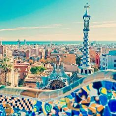 Do you love bright colors and quirky designs? If so, Barcelona is the perfect city to get some design inspiration. From the blue water to the brightly colored buildings and rooftops, there is never a dull moment.