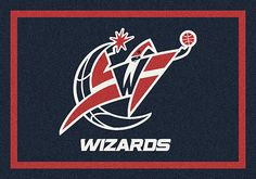 Washington Wizards area rugs. Decorate your home, office or any other room with area rugs of your favorite NBA team. These area rugs are proudly made in the USA. They can be used to show team spirit or to add character to a game room where you watch your favorite NBA teams battle it out. Show pride in your team with Milliken's TeamMats collection, consisting of 50 NBA mascots and insignias. All area rugs in the TeamMats collection are made of 100% nylon and are washable for easy cleaning.