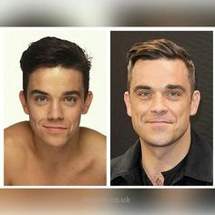 Robbie younger and now S Williams, Robbie Williams, Eric Winter, Edward Wilding, Philip Winchester, Julian Wilson, Spanish Men, The Power Of Music, Best Husband