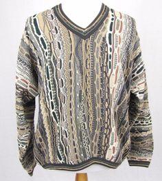Tundra Canada Sweater Large 3D Hip Hop Mercerized Cotton Wild V Neck Pullover #Tundra #VNeck