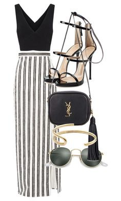 """Untitled #4553"" by olivia-mr ❤ liked on Polyvore featuring Balenciaga, Cinq à Sept, Giuseppe Zanotti, Ray-Ban, Yves Saint Laurent and Fay Andrada"