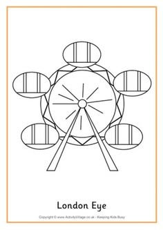 The Real London Eye Has 32 Pods Our Simplified Colouring Page Is Great For Younger Children