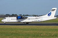 Stobart Air ATR 72-201 EI-REH aircraft, skating at Ireland Republic Dublin International Airport. 10/01/2015.