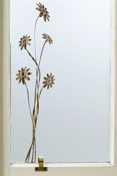 Window film flower pattern.  (in Dec 2012)