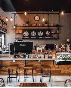 9 Resourceful Simple Ideas: But First Coffee Shop coffee design diy.Coffee Lovers Mug coffee pictures hilarious.But First Coffee Design. Cozy Coffee Shop, Small Coffee Shop, Best Coffee Shop, Rustic Coffee Shop, Vintage Coffee Shops, Rustic Cafe, Coffee Shops Ideas, Farmhouse Cafe, Hipster Coffee Shop