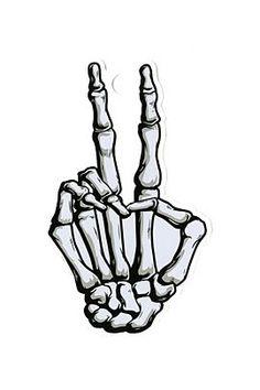 SKELETON HAND PEACE STICKER  $2.99