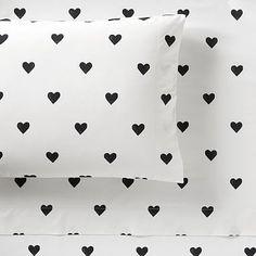 The Emily & Meritt Heart Sheet Set #pbteen