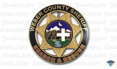 B23er Weber County Sheriff Badge 7 Star Circle Badge