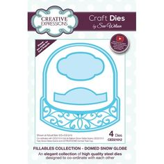 Creative Expressions Sue Wilson Fillables Collection - Domed Snow Globe die set - CraftStash