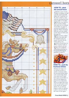 Carousel Horses In Cross Stitch By Donna Kooler and Linda Gillum American Carousel Horse Part 4 of 6