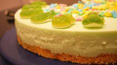 No-Bake Waldmeister Torte - Rezept von Kochschwabe Philadelphia Torte, Cheesecake, Pudding, Desserts, Food, Youtube, Kuchen, Dessert Ideas, Food Food