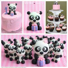 1st Birthday Panda Cupcakes and Smash Cake