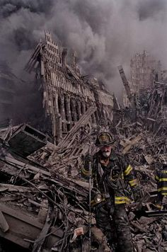 """""""The firemen could only put one foot in front of the other and try not to give in to despair."""""""