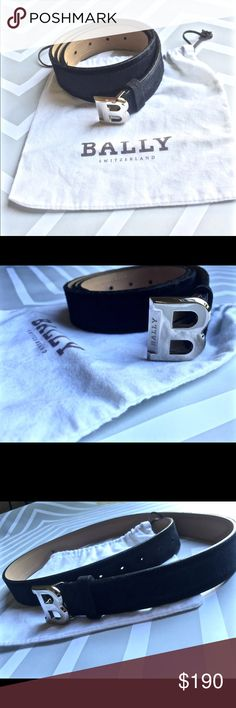 Authentic Mens Bally belt! Size 95/38 Mens Belt! Sleek Navy Suede. Sliver 'B' Bally Buckle!  Made in Italy. Great Condition!!! Original Retail Price: $350 bally Accessories Belts