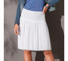 Voálová macramé sukňa | blancheporte.sk #blancheporte #blancheporteSK #blancheporte_sk #novákolekcia #jar #leto Lace Skirt, Midi Skirt, Leto, Spring, Skirts, Fashion, Clothing, Tunic, Moda