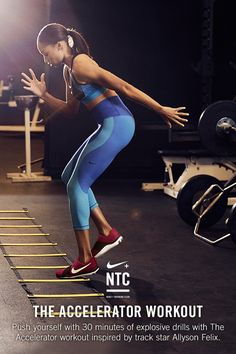 THE ACCELERATOR WORKOUT // One of the longest-enduring USA athletes, track star…