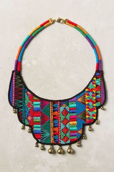 embroidered collar necklace from Peru.