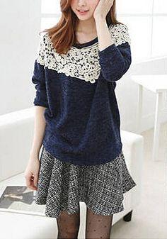 Crochet Overlay Blouse - nice every day look....