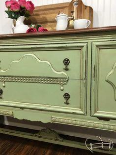 Sage Green Buffet Glazing Furniturepainting