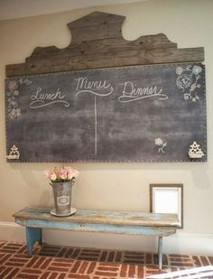 Shabby in love  - Love this chalkboard