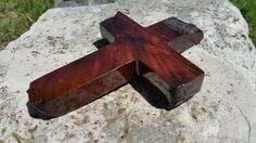 OOAK handmade wood cross made from Texas honey mesquite burl, Christian decor, wall decor, live edge by JackRabbitFlats on Etsy Mesquite Wood, Christian Decor, Wood Crosses, Handmade Items, Handmade Gifts, Making Out, Etsy Store, Angels, Honey