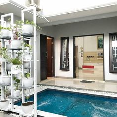 Home plans modern pools ideas Home Garden Design, Home Interior Design, House Design, Interior Ideas, Home Design Living Room, Modern Pools, House With Porch, Minimalist Home Decor, Trendy Home