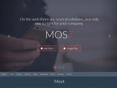 Mos7 – Responsive Bootstrap 3 App Landing Page Template (Version 1.1) Built with Bootstrap 3.2,…