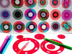 Spirograph Toy Kit Spirograph Pens Drawing by PrettyTurkishThings, $7.99