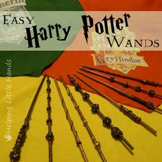 how to make wands with chop sticks a glue gun and metallic paint, maybe some beads