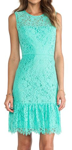 Mint lace dress. I want you to have this dress.