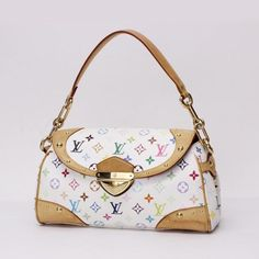 Louis Vuitton Beverly MM Monogram Multicolor Shoulder bags White Canvas M40203