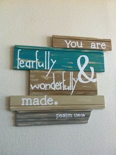 You are fearfully & wonderfully made paslm 13914 by TheBlondette, $45.00