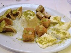 Assorted Lebanese desserts from Al Bustan